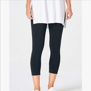 J. Jill Black Cropped Capri Pima Cotton Leggings